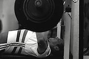 Henley. United Kingdom,  Steve REDGRAVE, weight training in the Leander Club Gym 1988. [Mandatory Credit - Peter Spurrier/Intersport Images] 1988 TRC Ergo/Redgrave Weights Leander Club, London - Henley, UK