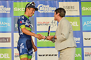 Caleb Ewan (AUS) of Orica BikeExchange receives his award for winning the Tour of Britain 2016 stage 8 , London, United Kingdom on 11 September 2016. Photo by Mark Davies.