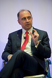 © London News Pictures. 04/11/2013 . London, UK.  XAVIER ROLET, Chief executive, London Stock Exchange Group, speaking at the 2013 Confederation of British Industry (CBI) Conference, held at the Hilton Metropole in London. . Photo credit : Ben Cawthra/LNP