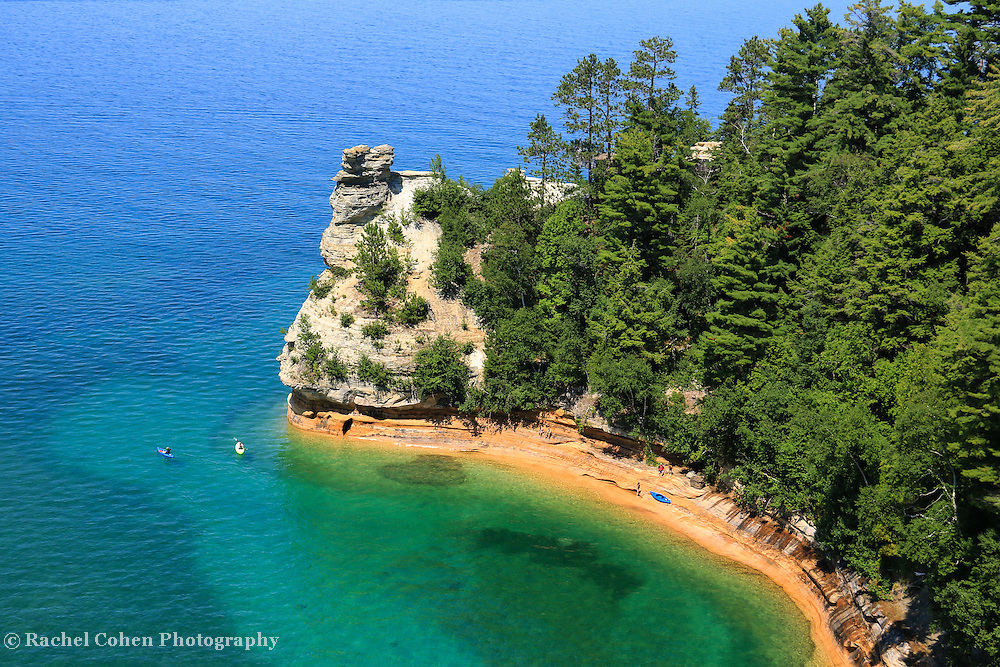 """""""Kayaking at Miners Castle""""2<br /> Scenic Miners Castle during summertime at Pictured Rocks National Lake Shore in Munising Michigan!"""