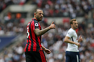 Steve Cook of AFC Bournemouth looks on. <br /> Premier league match, Tottenham Hotspur v AFC Bournemouth at Wembley Stadium in London on Saturday 14th October 2017.<br /> pic by Kieran Clarke, Andrew Orchard sports photography.