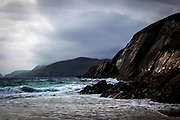 """View of the Blasket Islands from Coumeenoole Beach, Slea Head, Dingle Peninsula, Kerry, Ireland This mage can be licensed via Millennium Images. Contact me for more details, or email mail@milim.com For prints, contact me, or click """"add to cart"""" to some standard print options."""