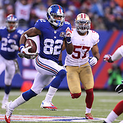 Rueben Randle, New York Giants, in action during the New York Giants V San Francisco 49ers, NFL American Football match at MetLife Stadium, East Rutherford, NJ, USA. 16th November 2014. Photo Tim Clayton