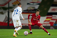 Football - 2020 / 2021 Champions League - Group D - Liverpool vs Atalanta - Anfield<br /> <br /> Atalanta's Josip Ilicic under pressure from Liverpool's Rhys Williams<br /> <br /> <br /> <br /> COLORSPORT/TERRY DONNELLY