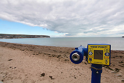 Covid 19 - Empty main beach during lock down in Swanage Dorset UK, April 2020