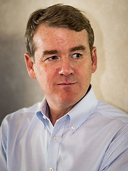 May 5, 2019 - Manning, Iowa, U.S - US Senator MICHAEL BENNET (D-CO), talks to a group of Iowa Democrats during a house parting in Manning, IA., about 2 hours west of Des Moines. Sen. Bennet is running for the Democratic nomination for the US Presidency in the 2020 election, he declared his candidacy last week and joins a crowded field of over 20 candidates. Iowa traditionally hosts the the first election event of the presidential election cycle. The Iowa Caucuses will be on Feb. 3, 2020. (Credit Image: © Jack Kurtz/ZUMA Wire)
