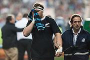 27.09.2014. Brodie Retallick injured. Test Match Argentina vs All Blacks during the Rugby Championship at Estadio Único de la Plata, La Plata, Argentina.