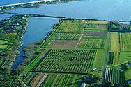 Aerial, Corn Maze, Water Mill, NY