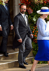 Evgeny Lebedev after the wedding of Princess Eugenie to Jack Brooksbank at St George's Chapel in Windsor Castle. PRESS ASSOCIATION Photo. Picture date: Friday October 12, 2018. See PA story ROYAL Wedding. Photo credit should read: Matt Crossick/PA Wire