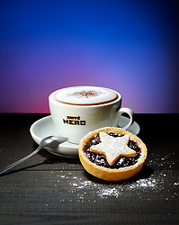 Cappuccino And Minced Pies - Caffe Nero