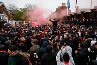 Football - 2017 / 2018 UEFA Champions League - Semi-Final, First Leg: Liverpool vs. A.S. Roma<br /> <br /> Liverpool fans outside Anfield prior to kick-off.<br /> <br /> COLORSPORT/PAUL GREENWOOD