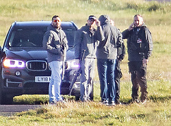 © Licensed to London News Pictures. 20/12/2018. London, UK. Armed police are seen next to the runway at Gatwick airport as the hunt for a drone operator continues. Flights have been cancelled and thousands of passengers have been delayed after the airport closed due to two drones being spotted nearby. Photo credit: Peter Macdiarmid/LNP