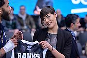 DESCRIZIONE : Trento Beko All Star Game 2016<br /> GIOCATORE : Alice Sabatini Miss Italia Adrian Banks<br /> CATEGORIA : Fair Play Before Pregame<br /> SQUADRA : LegaBasket<br /> EVENTO : Beko All Star Game 2016<br /> GARA : Beko All Star Game 2016<br /> DATA : 10/01/2016<br /> SPORT : Pallacanestro <br /> AUTORE : Agenzia Ciamillo-Castoria/L.Canu