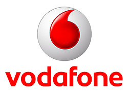 Undated handout photo issued by Vodafone of their logo.