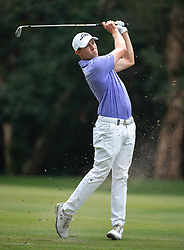 November 24, 2018 - Hong Kong, Hong Kong SAR, CHINA - Honma Hong Kong Open Golf 2018 at Hong Kong Golf Club Fanling. Fitzpatrick hits the ball on the 11th fairway.Englishman Aaron Rai holds onto his clear lead in day 3 of the tournament. After breaking the course record in the last round Rai remains steady and clear of Englands Matthew Fitzpatrick and South Koreas Hyowon Park. (Credit Image: © Jayne Russell/ZUMA Wire)