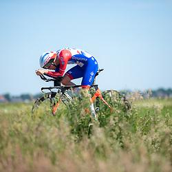 EMMEN (NED) June 16: <br /> CYCLING <br /> Martijn van den Berg (Netherlands-Groupama-FDJ) dring the Dutch Nationals Timetrail around Emmen
