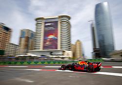 April 27, 2018 - Baku, Azerbaijan - #3 DANIEL RICCIARDO (AUS, Red Bull Racing) in action during a practice run at the Formula 1 World Championship, Rd 4, Azerbaijan Grand Prix, Baku Street Circuit, Azerbaijan. (Credit Image: © Hoch Zwei via ZUMA Wire)