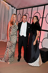 Left to right, INDIA HICKS, DAVID FURNISH and JESSICA DE ROTHSCHILD at the Raisa Gorbachev Foundation Gala held at the Stud House, Hampton Court, Surrey on 22nd September 22 2011