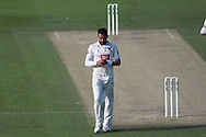 Sussex bowler Ajmal Shahzad during the Specsavers County Champ Div 2 match between Sussex County Cricket Club and Leicestershire County Cricket Club at the 1st Central County Ground, Hove, United Kingdom on 1 May 2016. Photo by Bennett Dean.