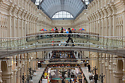 Moscow, Russia, 21/01/2011..Interior of the GUM central department store on Red Square.