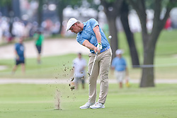 May 25, 2018 - Forth Worth, TX, U.S. - FORT WORTH, TX - MAY 25:  Bryson DeChambeau of the United States hits his approach shot to #7 during the second round of the Fort Worth Invitational on May 25, 2018 at Colonial Country Club in Fort Worth, TX. (Photo by Andrew Dieb/Icon Sportswire) (Credit Image: © Andrew Dieb/Icon SMI via ZUMA Press)
