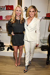 Left to right, Naomi Isted and Ashley Roberts at a party to launch Ashley Robert's new footwear range Allyn held ay Larizia, 74 St.John's Wood High Street, London England. 8 February 2017.