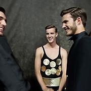 Milan, Italy, June 23rd, 2012. Carlo Pignatelli backstage at Milan Men's Fashion Week. Reportage for Cosmopolitan Germany.