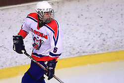 Luka Scap at friendly ice-hockey game between Slovenian National Team U20 and HKMK Bled, before World Championship Division 1, Group A in Herisau, Switzerland, on December 11, 2008, in Bled, Slovenia. (Photo by Vid Ponikvar / Sportida)