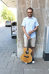 July 13, 2017 - LinköPing, Sweden - Former ABBA-member Bjorn Ulvaeus tries out the new ''Bjorn- and Benny-bench'' in Linkoping, Sweden. This is the exact place where Bjorn Ulvaeus and Benny Andersson met for the first time in 1966 when they were touring with their respective bands ''Hootenanny Singers'' and ''Hep Stars''. ..2017-07-13..(c) Jeppe Gustafsson / IBL Bildbyrà (Credit Image: © Jeppe Gustafsson/IBL via ZUMA Press)