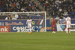 March 1, 2018 - Harrison, New Jersey, United States - Luis Robles (31) of New York Red Bulls saves goal during 2018 CONCACAF Champions League round of 16 game against CD Olimpia of Honduras at Red Bull arena, Red Bulls won 2 - 0  (Credit Image: © Lev Radin/Pacific Press via ZUMA Wire)