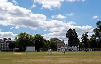 Cricket - 2020 summer - Friendly - Twickenham 2nd XI  vs East Moseley CC<br /> <br /> A general view as recreational cricket gets under way, on Twickenham Green.<br /> <br /> COLORSPORT/ASHLEY WESTERN