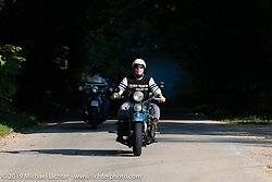 Chris Tribbey riding his 1947 Harley-Davidson WL Flathead in the Cross Country Chase motorcycle endurance run from Sault Sainte Marie, MI to Key West, FL (for vintage bikes from 1930-1948). Stage 5 had riders cover 213 miles from Bowling Green, KY to Chatanooga, TN USA. Tuesday, September 10, 2019. Photography ©2019 Michael Lichter.
