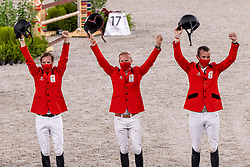 Team Belgium, Devos Pieter, Wathelet Gregory, Guery Jerome<br /> Olympic Games Tokyo 2021<br /> © Hippo Foto - Dirk Caremans<br /> 07/08/2021