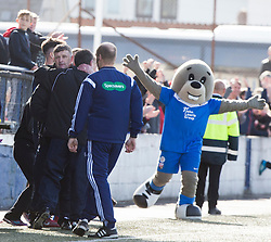 Montrose manager Paul Hegarty  at the end. <br /> Montrose 3 v 1 Brora Rangers, Scottish League Two play-off second leg, today at Links Park, Montrose.