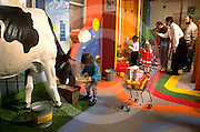 The Please Touch Museum, Children's Museum, Children and Cows. Centennial District of Philadelphia, Pennsylvania USA