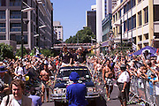 Queen street ticker tape parade for Team New Zealand, winners of the America's Cup 2000
