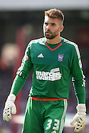 Goalkeeper Bartosz Bialkowski of Ipswich Town looking on. Skybet football league Championship match, Brentford v Ipswich Town at Griffin Park in London on Saturday 8th August 2015.<br /> pic by John Patrick Fletcher, Andrew Orchard sports photography.