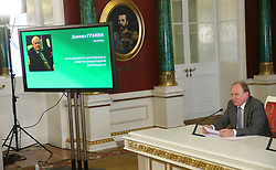 June 7, 2017 - Moscow, Russia - June 7, 2017. - Russia, Moscow. - The winners of the 2016 Russian Federation National Awards for outstanding achievements in science and technology, literature and the arts, and humanitarian work were announced at a special briefing at the Kremlin by Presidential Aide Andrey Fursenko and member of the Presidential Council for Culture and the Arts Presidium and Presidential Adviser Vladimir Tolstoy. (Credit Image: © Russian Look via ZUMA Wire)