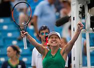 Simona Halep of Romania celebrates the victory during the semi-final of the 2018 Western and Southern Open WTA Premier 5 tennis tournament, Cincinnati, Ohio, USA, on August 18th 2018, Photo Rob Prange / SpainProSportsImages / DPPI / ProSportsImages / DPPI
