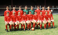 Fotball<br /> Liverpool<br /> Foto: Colorsport/Digitalsport<br /> NORWAY ONLY<br /> <br /> Liverpool Team Group 1969. Back Row (L>R) Geoff Strong, Gerry Byrne, Chris Lawler, Tommy Lawrence, Ray Clemence, Larry Lloyd, Ian Ross, Alec Lindsay. Front Row (L>R) Ian Callaghan, Alun Evans, Roger Hunt, Tommy Smith, Ron Yeats, Emlyn Hughes, Ian St. John, Peter Thompson, Bobby Graham.