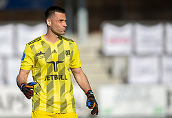 Thomas Mikkelsen (Lyngby Boldklub) under kampen i 3F Superligaen mellem Lyngby Boldklub og FC København den 1. juni 2020 på Lyngby Stadion (Foto: Claus Birch).