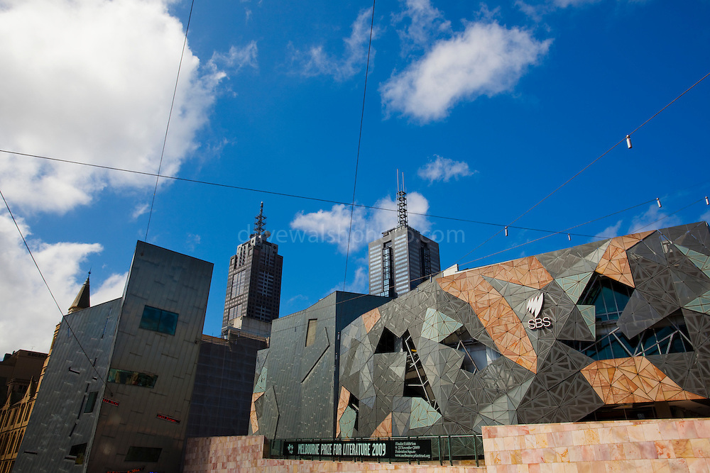 Federation Square, Melbourne Editorial use only.