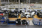 Mlada Boleslav/Tschechische Republik, Tschechien, CZE, 16.03.07: Ansicht auf das Fertigungsband für Skoda Octavia Automobile in der Skoda Auto Fabrik in Mlada Boleslav. Der tschechische Autohersteller Skoda ist ein Tochterunternehmen der Volkswagen Gruppe.<br /> <br /> Mlada Boleslav/Czech Republic, CZE, 16.03.07: View over assembly plant of Octavia vehicle models at Skoda car factory in Mlada Boleslav. Czech car producer Skoda Auto is subsidiary of the German Volkswagen Group (VAG).