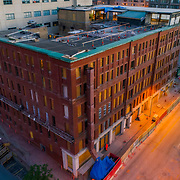Hotel Savoy under renovation; historic hotel property in downtown Kansas City; remodeling and modernizing underway by 21C Museum Hotels.