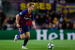 November 5, 2019, Barcelona, Catalonia, Spain: November 5, 2019 - Barcelona, Spain - Uefa Champions League Stage Group, FC Barcelona v Slavia Praga: Frankie De Jong of FC Barcelona runs with the ball. (Credit Image: © Eric Alonso/ZUMA Wire)