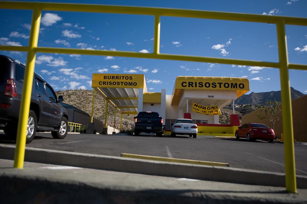 .The new Burritos Crisostomo in El Paso Texas on Sunday morning, Oct. 11, 2009..