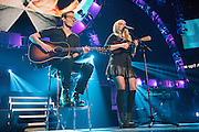 Meghan Trainor performing at the iHeartRadio Music Festival in Las Vegas, Nevada on Sepembter 20, 2014.