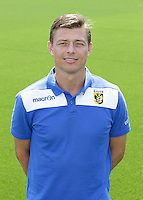 Assistant trainer Jon Dahl Tomasson during the team presentation of Vitesse Arnhem on July 6, 2015 at the Papendal training complex in Arnhem, The Netherlands.