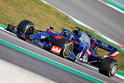 February 28, 2019 - Montmelo, BARCELONA, Spain - Alexander Albon (Red Bull Toro Rosso Honda) STR14 car, seen in action during the winter testing days at the Circuit de Catalunya in Montmelo (Catalonia), Thursday, February 28, 2019. (Credit Image: © AFP7 via ZUMA Wire)