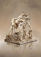2nd century AD Roman marble sculpture known as the Farnese Bull from the Baths of Caracalla, Rome, Farnese Collection, Museum of Archaeology, Italy ..<br /> <br /> If you prefer to buy from our ALAMY STOCK LIBRARY page at https://www.alamy.com/portfolio/paul-williams-funkystock/greco-roman-sculptures.html . Type -    Naples    - into LOWER SEARCH WITHIN GALLERY box - Refine search by adding a subject, place, background colour, museum etc.<br /> <br /> Visit our CLASSICAL WORLD HISTORIC SITES PHOTO COLLECTIONS for more photos to download or buy as wall art prints https://funkystock.photoshelter.com/gallery-collection/The-Romans-Art-Artefacts-Antiquities-Historic-Sites-Pictures-Images/C0000r2uLJJo9_s0c